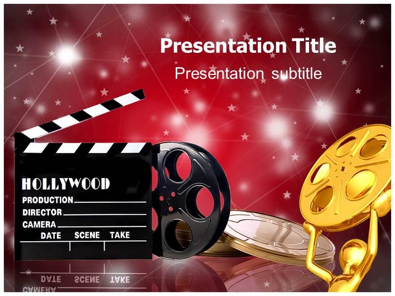 hollywood theme background hollywood films powerpoint