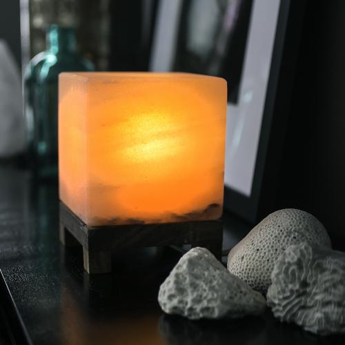 Photo of Himalayan cube salt light – amber