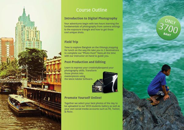 Learn Graphic Design Web Courses Bangkok Making Tri Fold Brochure Trifold Brochure Learning Graphic Design Course Web