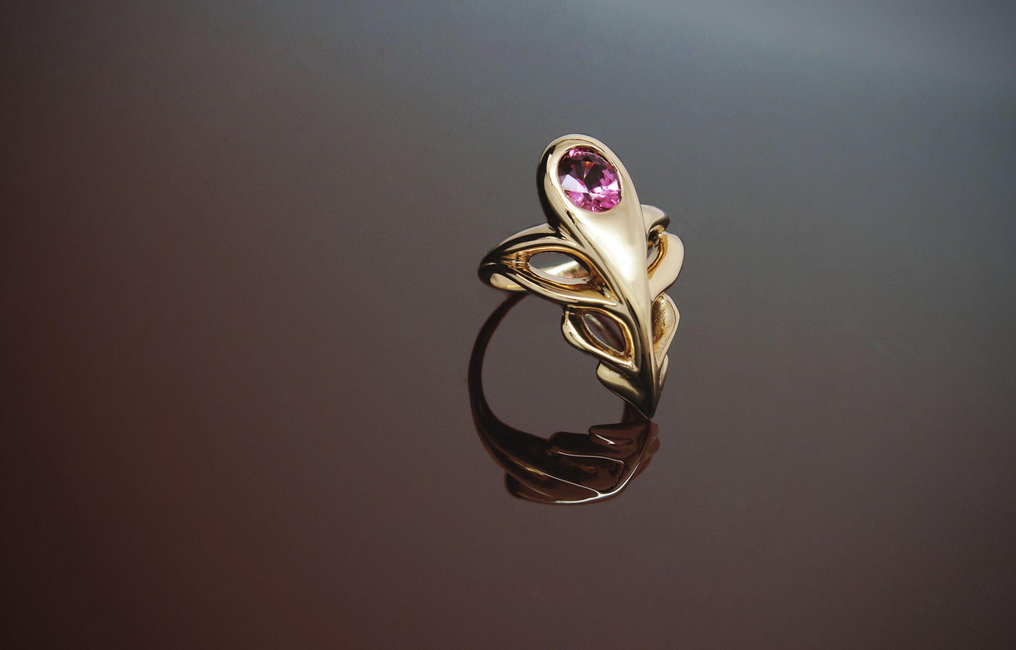 Caduceus Ring -- Baker & Black