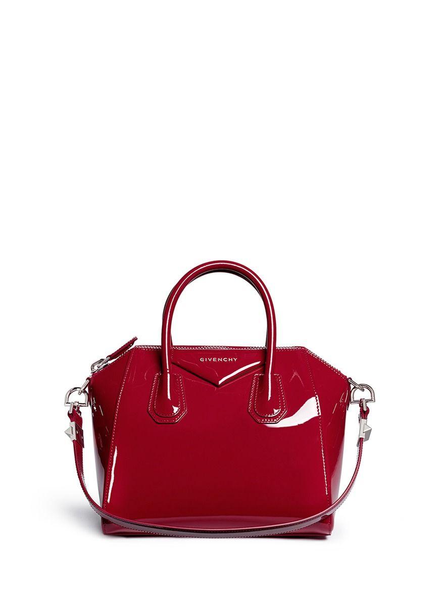 2851f22b68f4 GIVENCHY -  Antigona  small patent leather satchel