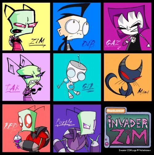 Zim and Tak look a little funny,don't u think? | invader ... Zim And Tak Love Story