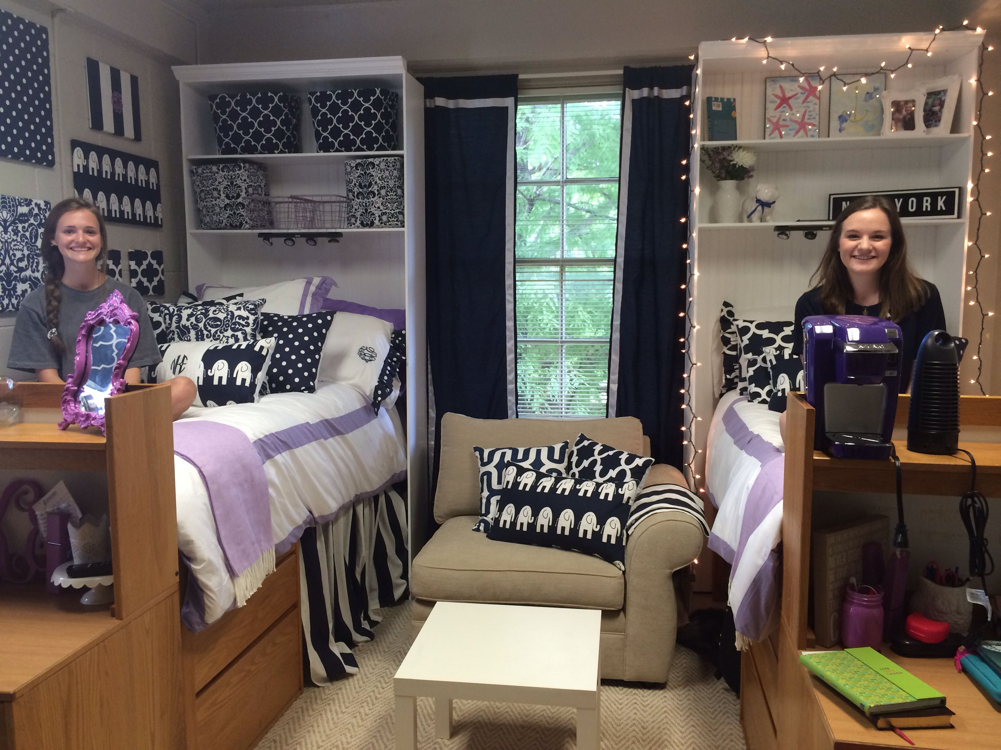 Dorm at Samford university! | Purple dorm rooms, Cool dorm ...