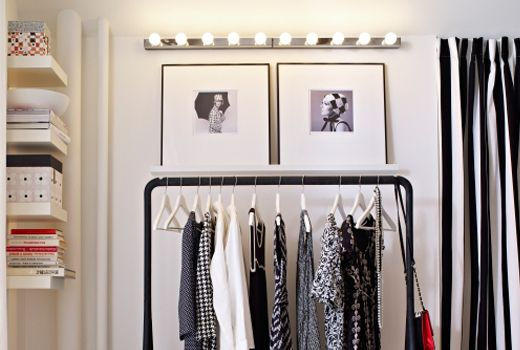 IKEA Nice idea of using MUSIK wall lamp above a couple pictures and a  clothes rack - IKEA Nice Idea Of Using MUSIK Wall Lamp Above A Couple Pictures