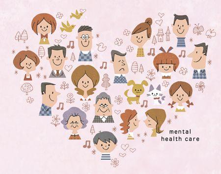 メンタルヘルスセミナーポスタービジュアル 子供イラスト 幼稚園