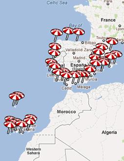 $50Todas las costa y hoteles de España y Portugal