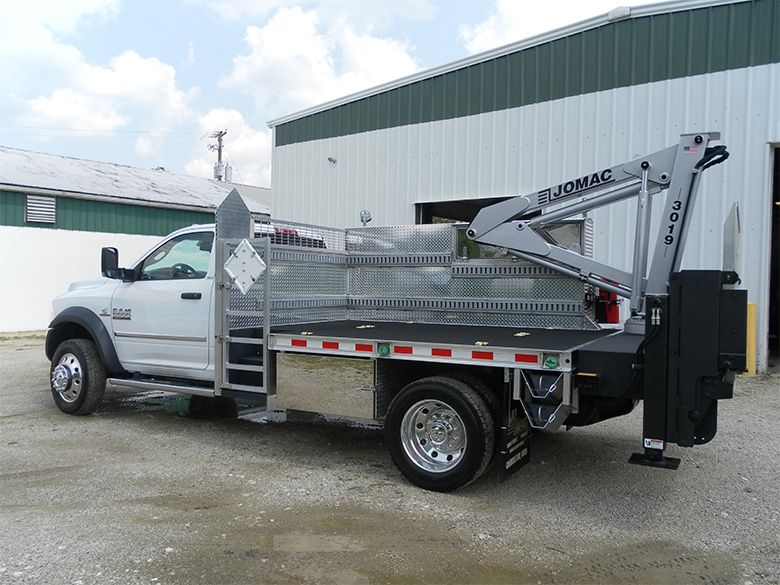Knuckle Boom Crane Mounted on Propane Service Truck | Trucks