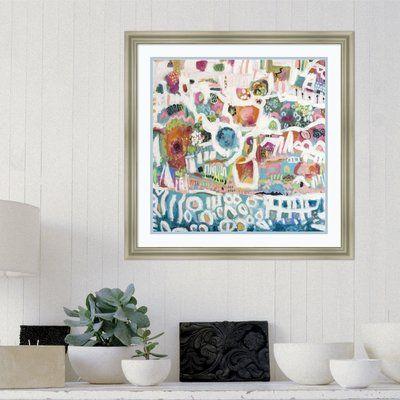 Latitude Run 'Abstract Marina I' Framed Print on Wood