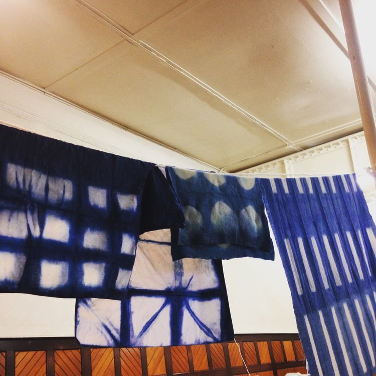 Indigo shibori workshop at The Lost Ones Gallery, Ballarat with Roz from Be Kind Mindfull Textiles.
