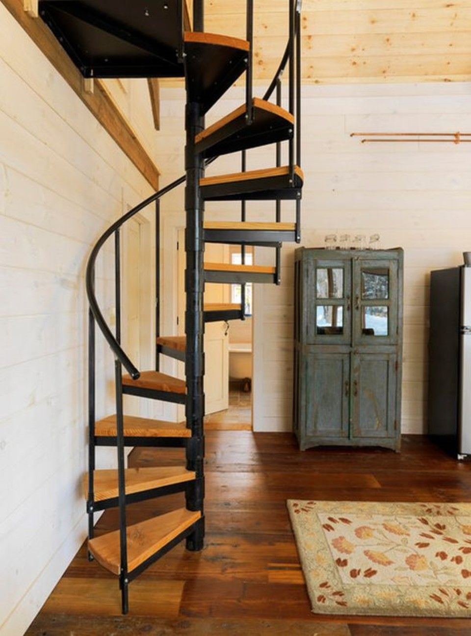tiny house stairs tiny homes large living pinterest wood circular staircase plans dark wooden floor idea and fancy area rug with amazing circular spiral staircase plan feat glass cupboard door design