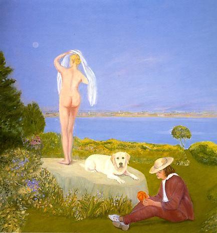 jane freilicher painter | JANE FREILICHERThe Shy Lover1994oil on linen38 x 35 3/4 inchesPrivate ...