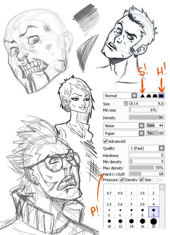 Line Art Sai : Pencil tool by sinistar viantart on deviantart