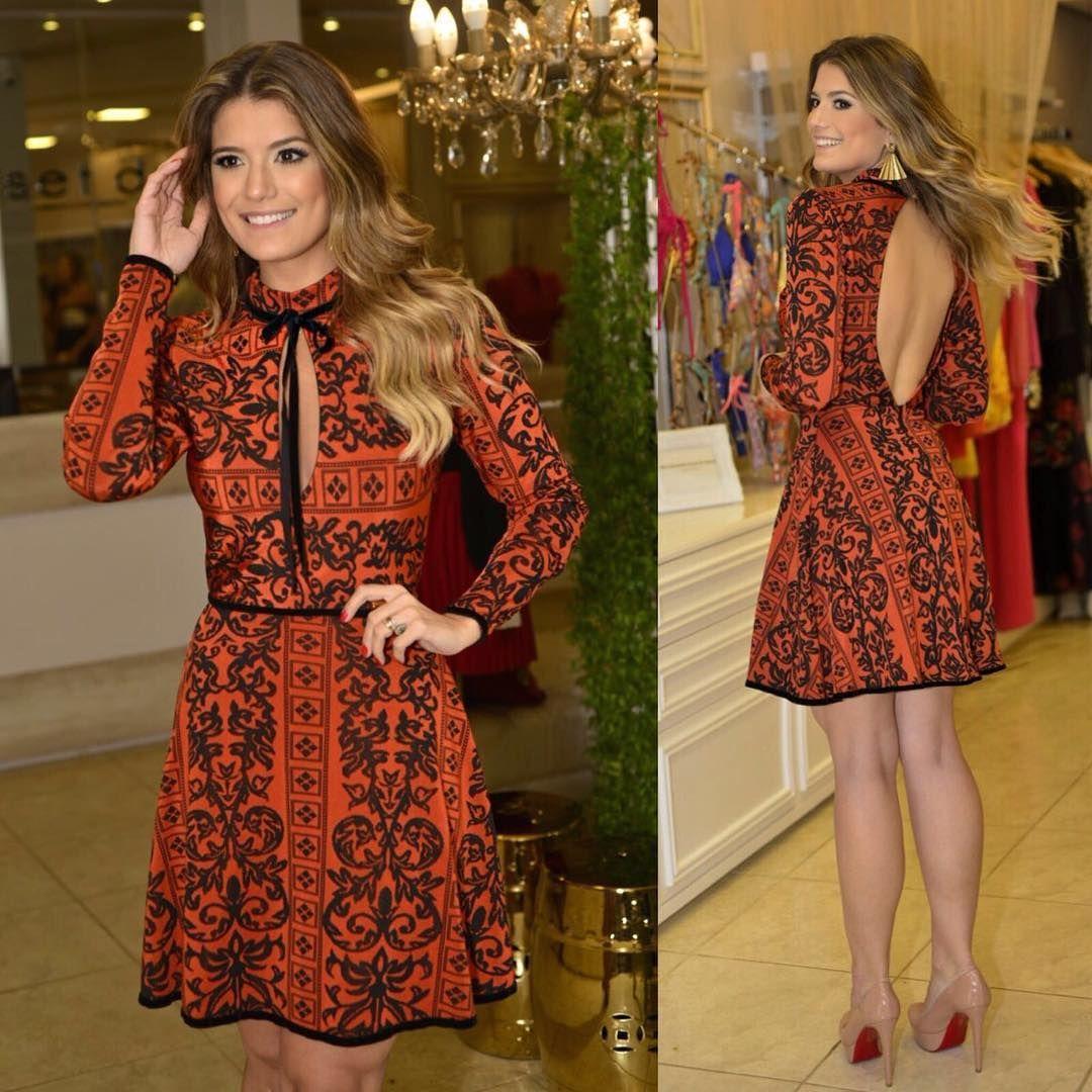 """""""Aí esse vestido! Essa cor! lindo!! #invernoclosetdamay - vestido R$339,90"""""""