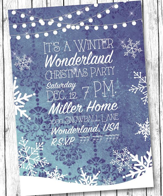 Christmas Party Invitation, Christmas Party Invite, Christmas Open