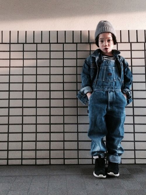 Denim × Denim outer#140㎝ overall#140㎝ 今発売中のLUCA vo