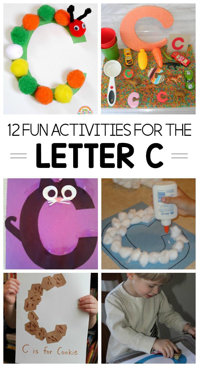 12 Letter C Activities