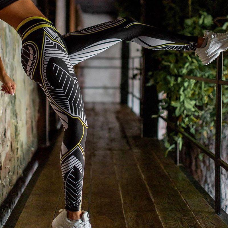 Women/'s High Waist Leggings Yoga Pants Sports Fitness Running Gym Stretch S-XL M