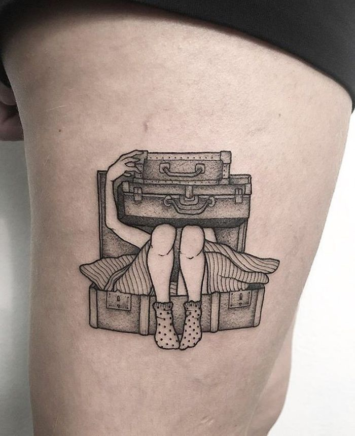 30 Travel Tattoo Ideas That Will Make You Want To Pack Your Bags