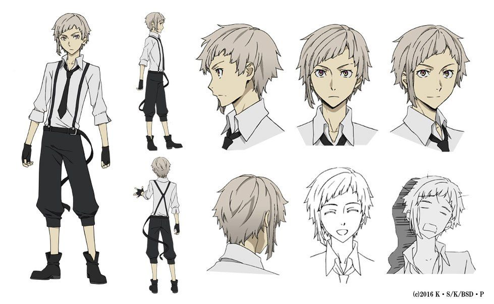 Bungō Stray Dogs Anime S Character Design Sheets Unveiled News Anime News Network Bungou Stray Dogs Characters Stray Dogs Anime Bungou Stray Dogs Atsushi