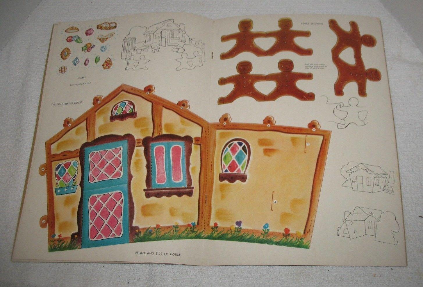 Vtg Unused Uncut 1967 Whitman Hansel Gretel w House Punch Push Out Paper Dolls | eBay
