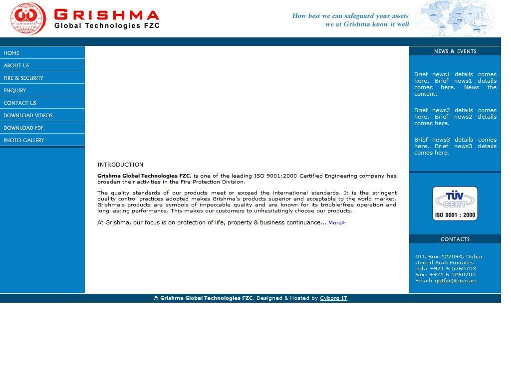 Grishma Global Technologies Fzc Grishma 137 2 Drydocks Street 1