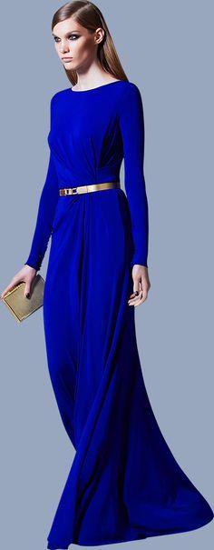 Cobalt Blue Long Dress