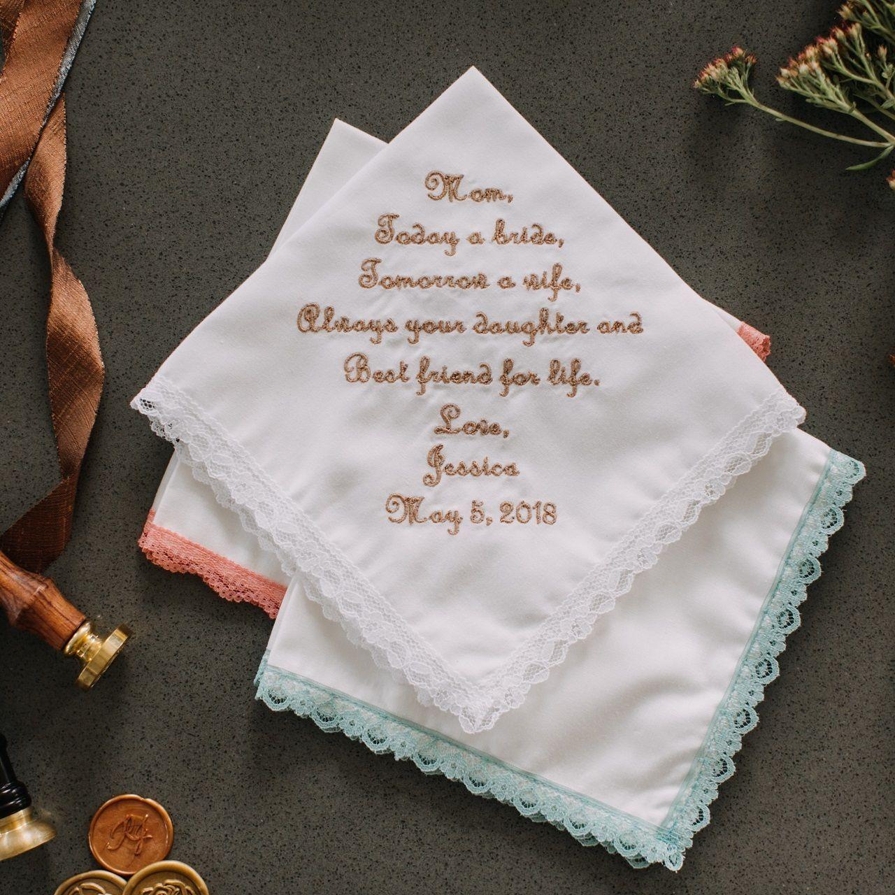 the Handkerchief Shop - Mother of the Bride Hanky Gift {Best Friend}, $32.95