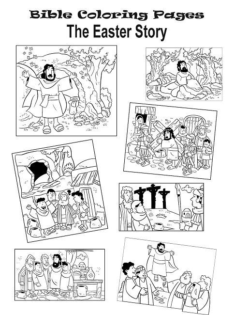 Jesus Easter Story Coloring Pages