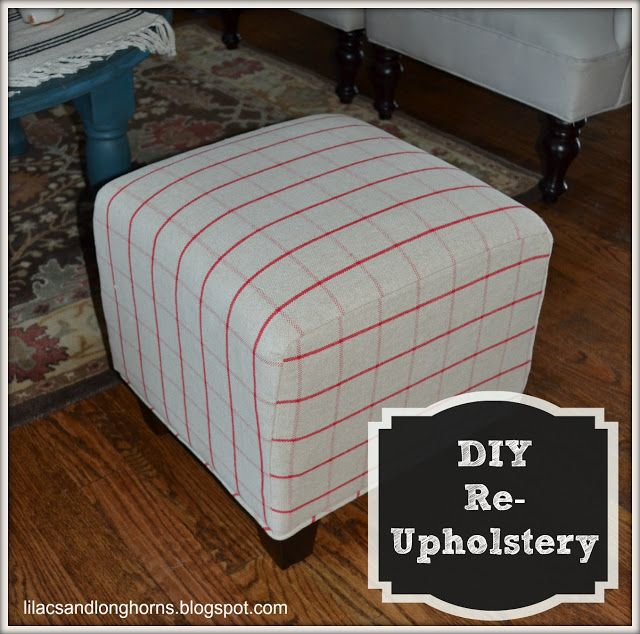 I Did It! {Reupholstering Cube Ottomans Tutorial} - www ...