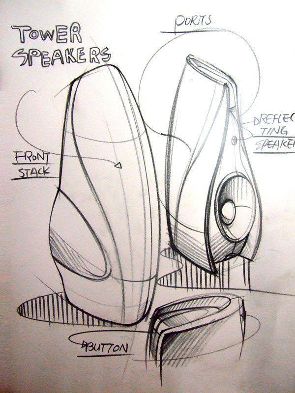 Speaker Industrial Design Sketch Design Sketch Sketch Design