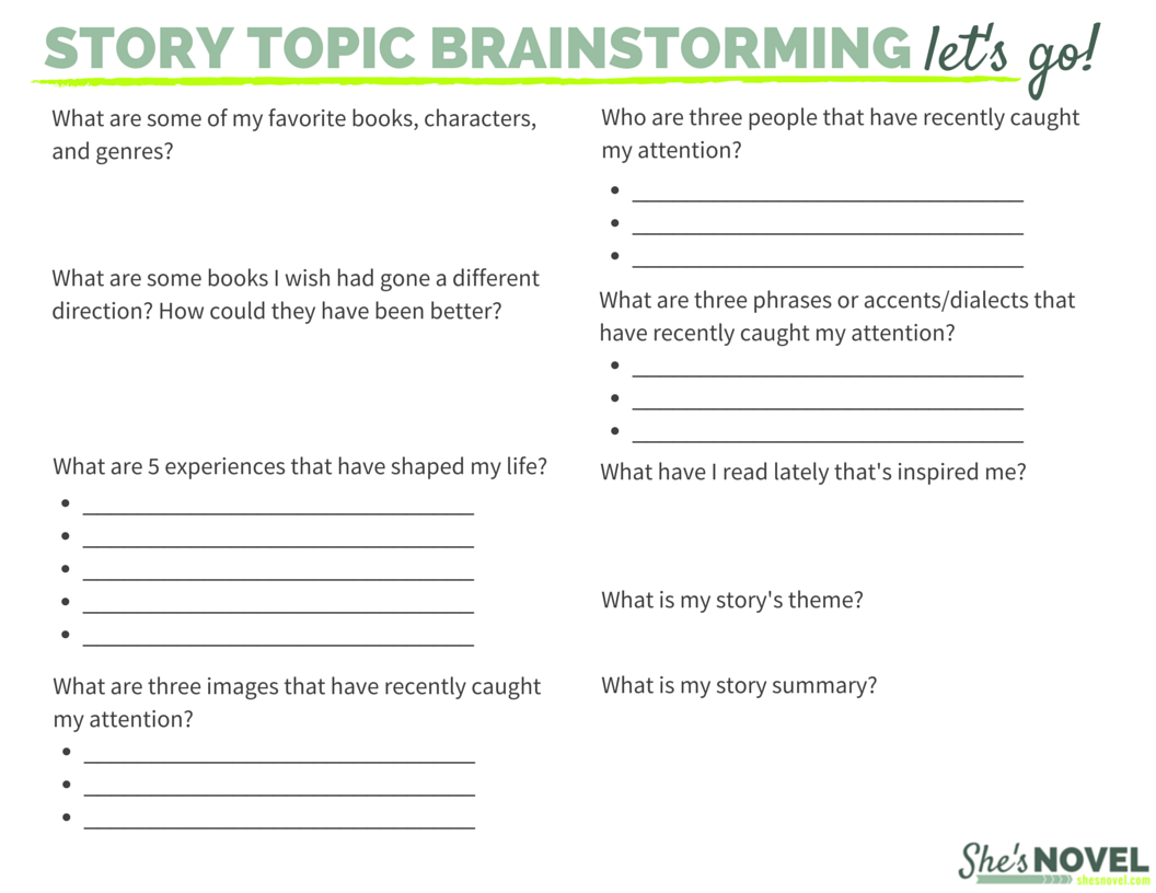 Three Powerful Ways To Brainstorm New Story Ideas