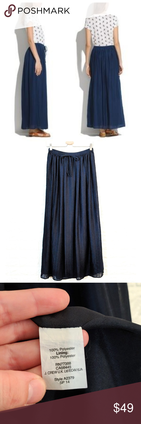 1ba5bf49e MADEWELL Skyward Skirt Maxi Navy Blue Size Small MADEWELL Skyward Skirt  Navy Blue Size Small Long