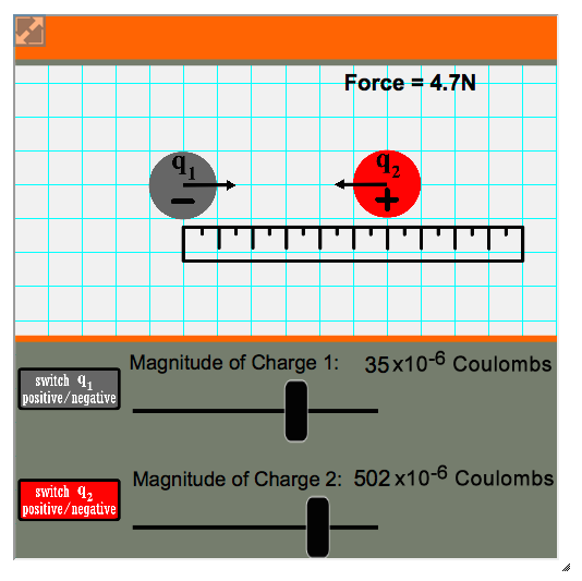 This interactive simulation from The Physics Classroom's