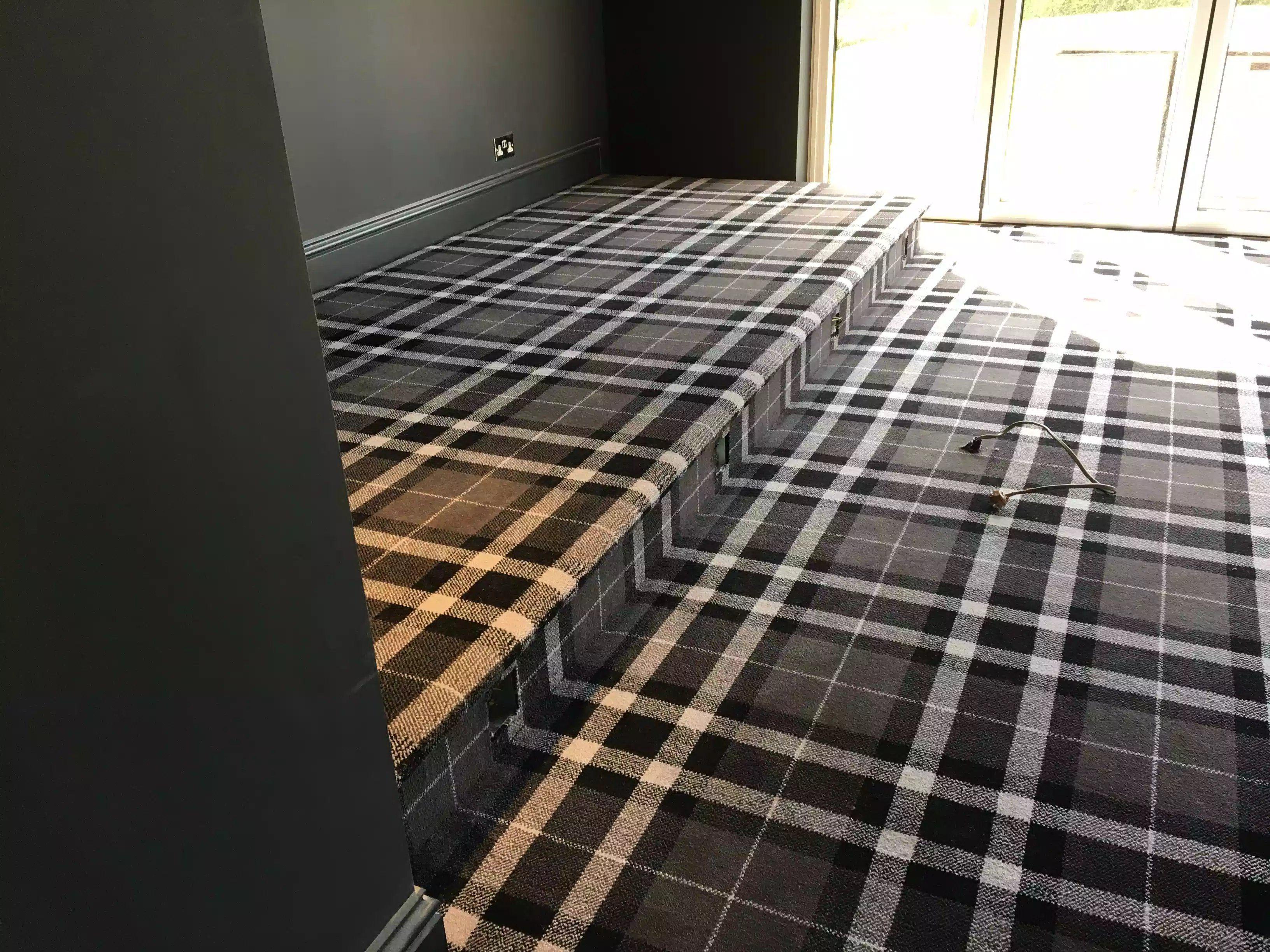 Tartan Carpet Fitted By Ben Champness For Higherground Camberley Higherground Co Uk Carpet Fitting Tartan Carpet Flooring