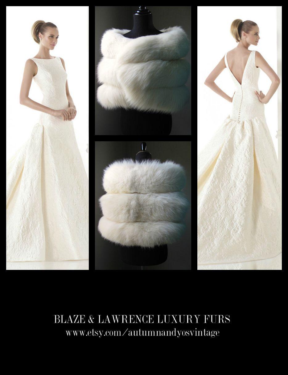 "Stay luxuriously warm……..GET THIS LOOK: Atelier Pronovias 2015 ""Cayetana"" Wedding Dress Gown + Blaze & Lawrence Luxury Fur Stole……...https://www.etsy.com/shop/AutumnandYosVintage?ref=hdr_shop_menu….#luxury #luxurylife #luxe #fashion #style #trend #gown #robe #vestito #boda #statement #wedding #prom #redcarpet #blacktie #party #gatsby #20s #formal #event #inspiration #LuxuryGowns + #LuxuryFurs = #PerfectCombination……."