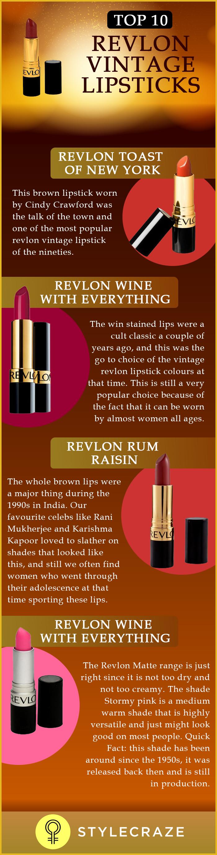 Top 10 Revlon Vintage Lipsticks