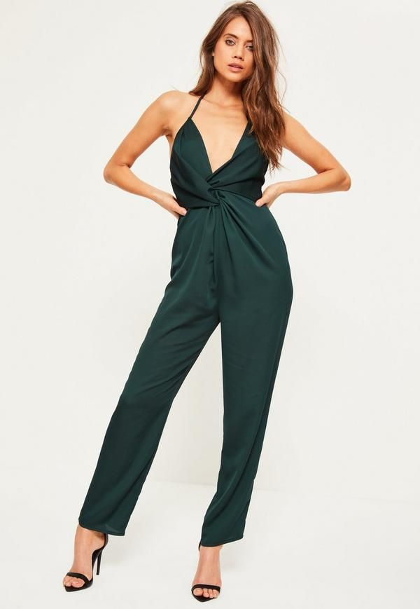 55e6442d6b We re loving green this party season and this jumpsuit is at the top of our  lust have list - featuring an halterneck