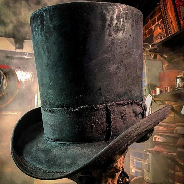 b40123f4e4523 Custom Made Handcrafted Mercurized Signature Top Hat Creation. By Gunner Fox