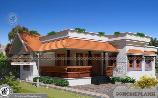 One Level Home Plans With Simple And Stylish Low Budget Home Designs One Level Homes House Plans House Plans With Photos