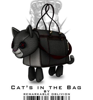 Second Life Marketplace - RO - Cat's in the Bag Tote