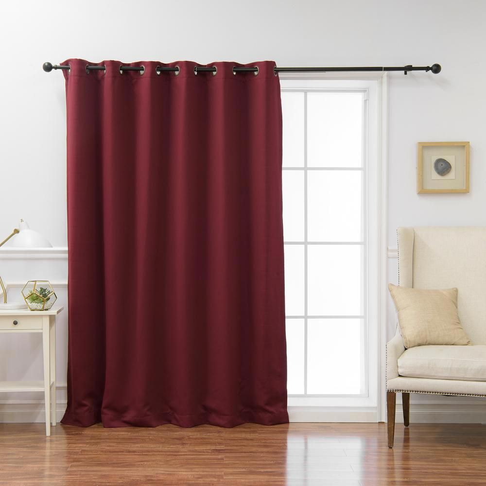 Best Home Fashion Wide Basic Blackout Curtain In Burgundy Red 80 In W X 108 Insulated Blackout Curtains Thermal Insulated Blackout Curtains Cool Curtains