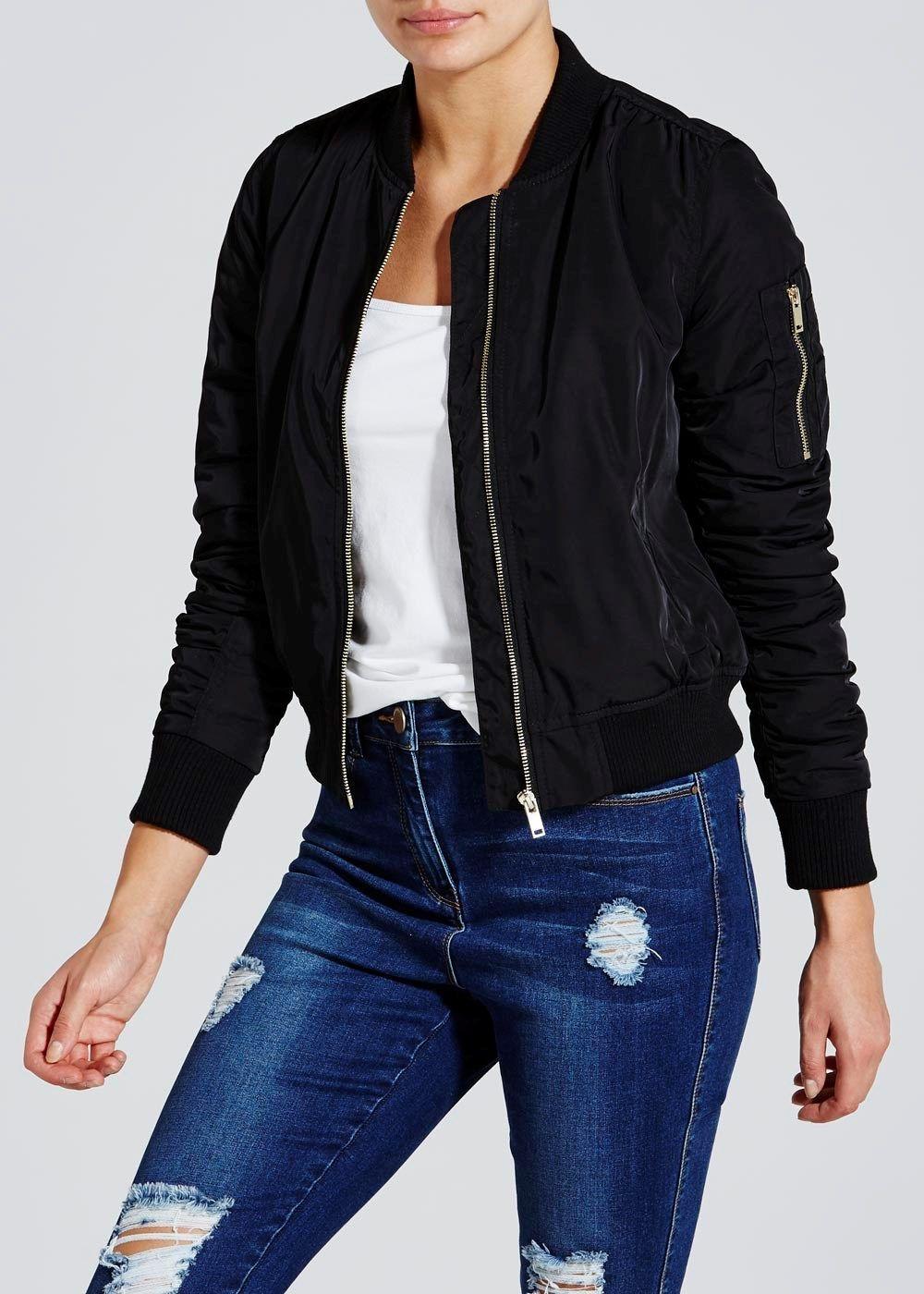 Pink leather jacket matalan