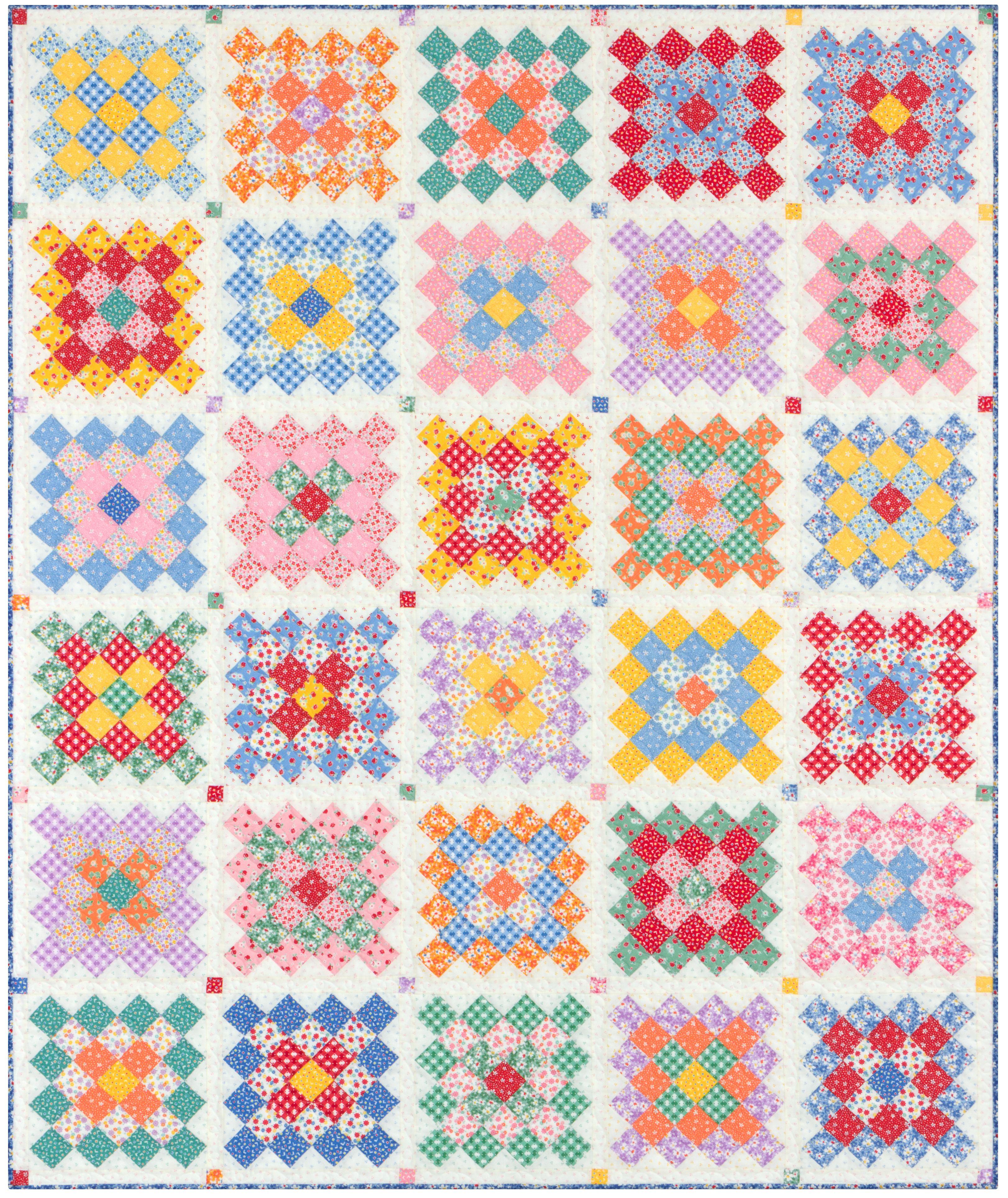 Quilt Pattern ~ DAISY PATCH ~ by Darlene Zimmerman