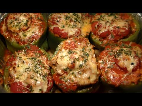 Homemade Stuffed Green Bell Peppers Recipe How To Make The Best Stuffed Bell Peppers Youtube Bell Pepper Recipes Stuffed Peppers Green Bell Pepper Recipes