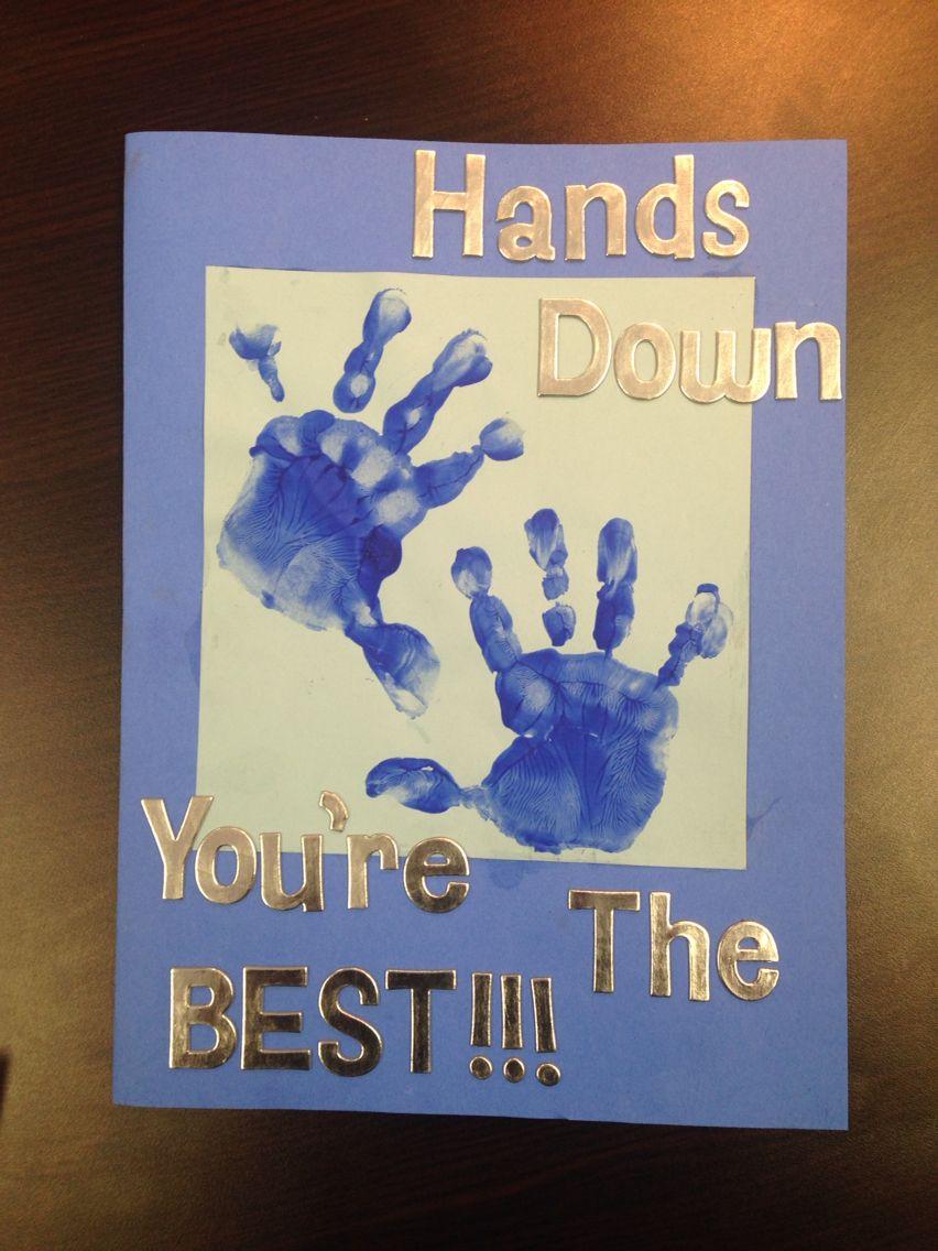 Handprint birthday card for dad Dad birthday card