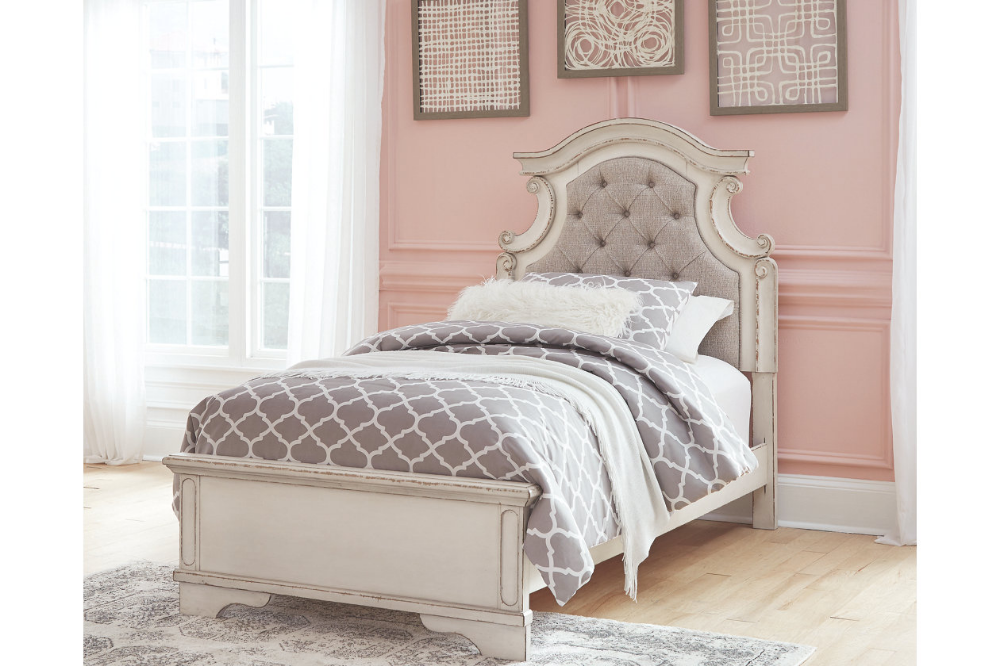 Realyn Queen Upholstered Panel Bed | Upholstered panel bed ...