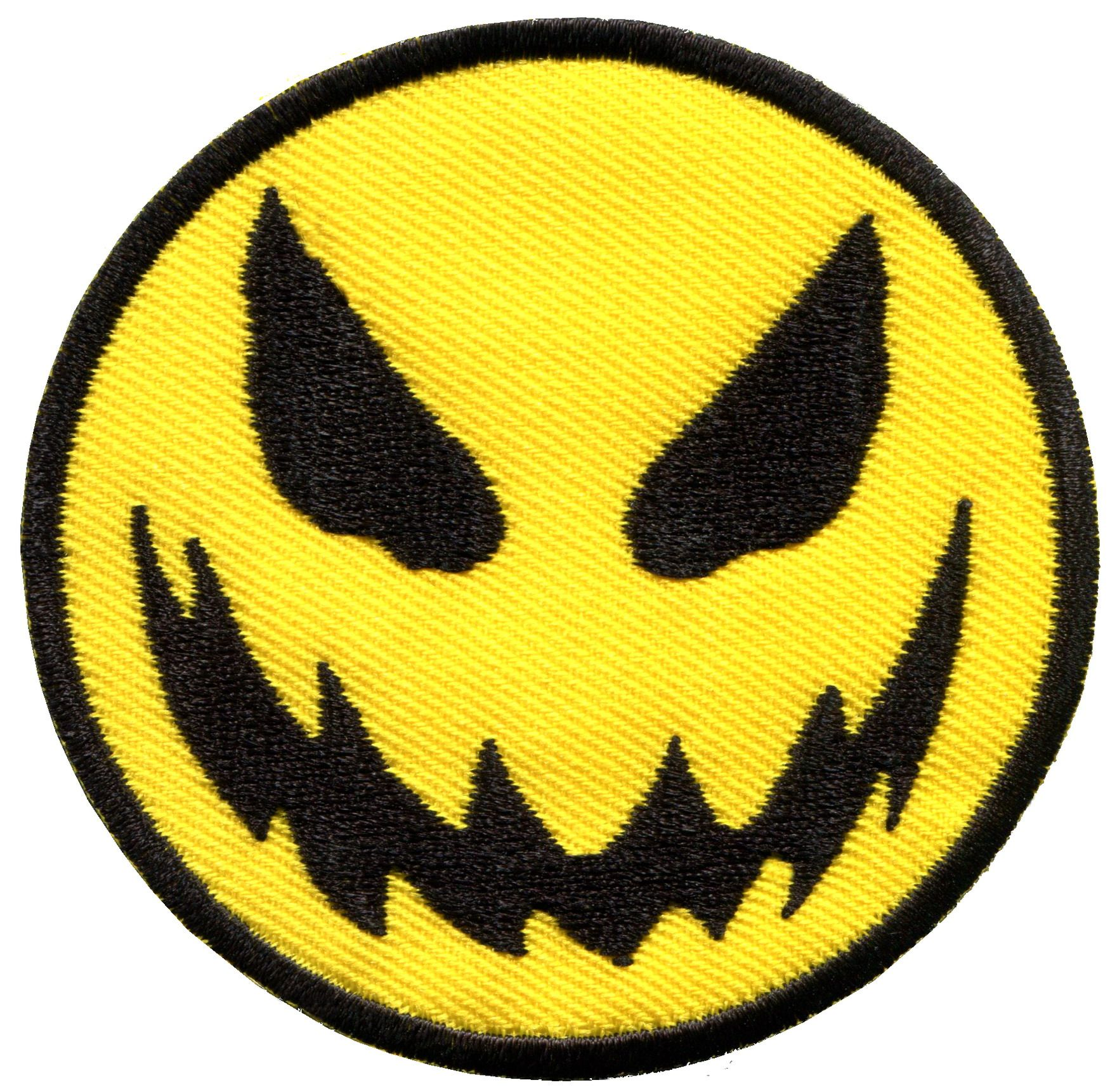 Large Smiley face Smile Sew Iron on Patch Bags Jeans Clothes tongue Blob