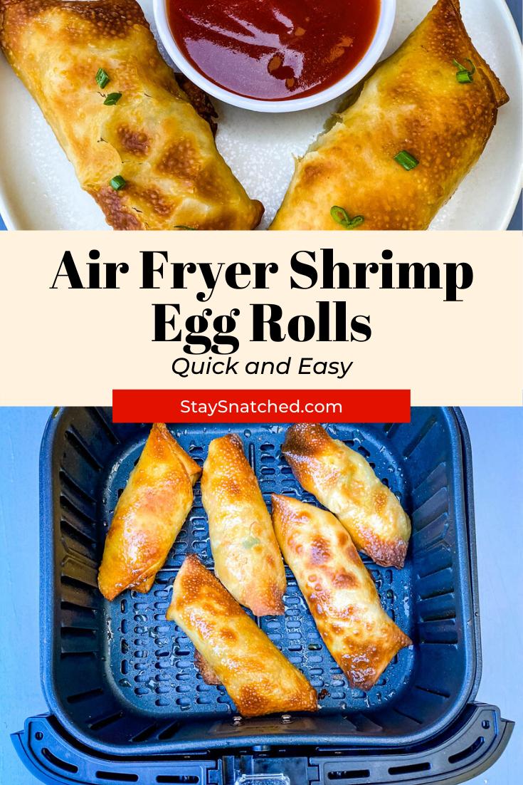 Easy Air Fryer Shrimp Egg Rolls in 2020 Shrimp egg rolls