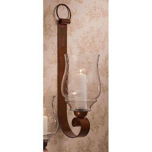 Dessau Home Bronze Iron Loop Candle Sconce With Hammered Globe 29 Inches High Me2231 Bellacor In 2021 Rustic Candle Wall Sconces Candle Sconces Candle Holder Wall Sconce