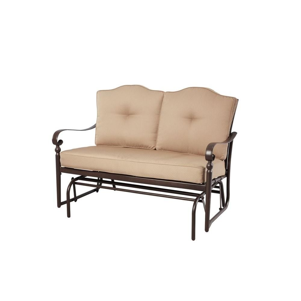 Hampton Bay Eastham Patio Double Glider 770.002.000   The Home Depot